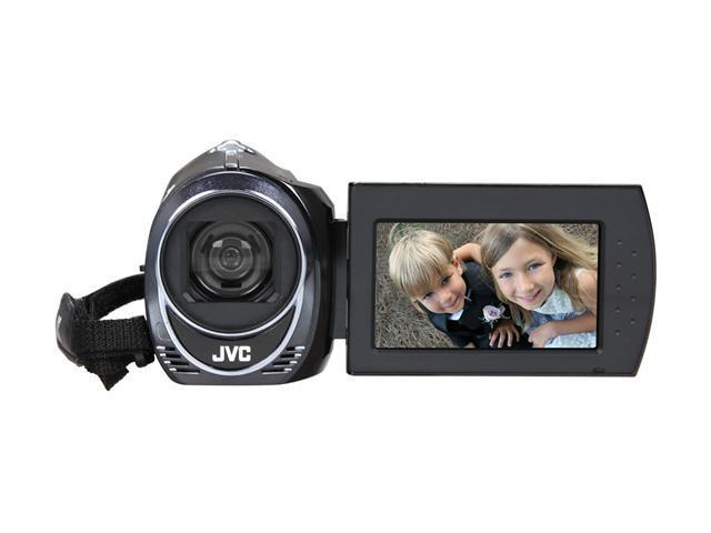 "JVC Everio GZ-MS110 Black 1/6"" CCD 39X Optical Zoom HDD/Flash Memory Camcorder"