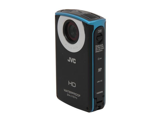 "JVC JVC-GCWP10AUSx Black 3.0"" 230K LCD Full HD Waterproof SDXC-compatible Pocket Camcorder"