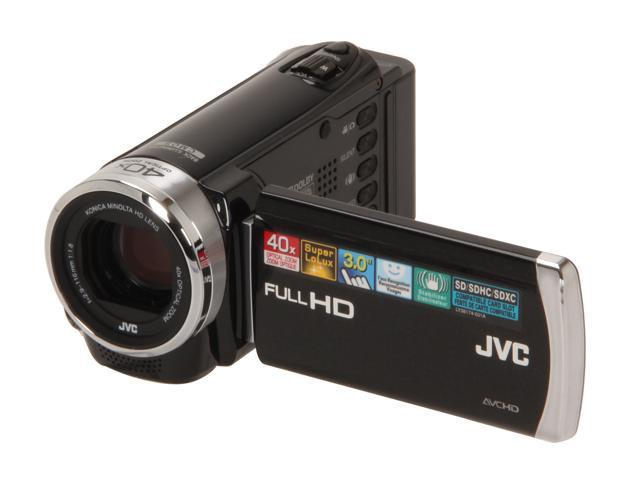 JVC GZ-E200BUS 1080p HD Everio Digital Video Camera Video Camera with 3-Inch LCD Screen (Black)