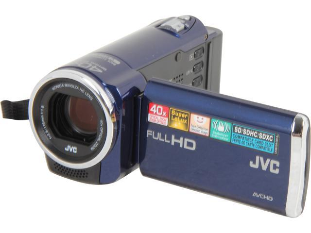 JVC GZ-E10 Blue Full HD HDD/Flash Memory Camcorder