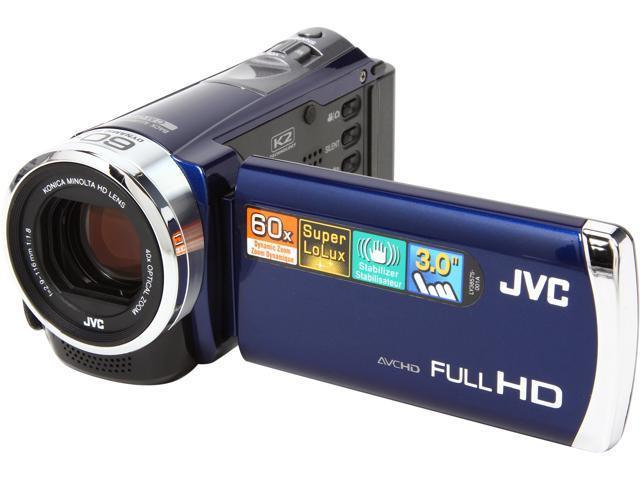 JVC 1080P Digital Camcorder, GZ-E300A, Blue