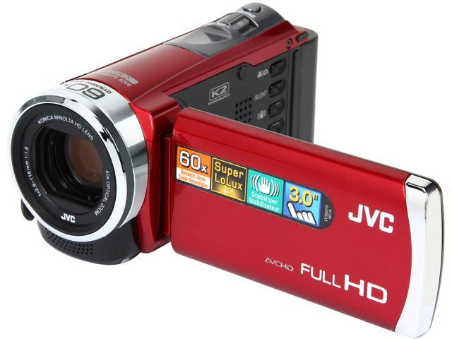 JVC GZ-E300 RED Red Full HD HDD/Flash Memory Camcorder