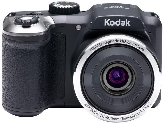 Kodak AZ251-BK Black 16.15 Megapixels 25X Optical Zoom Wide Angle Astro Zoom Digital Camera