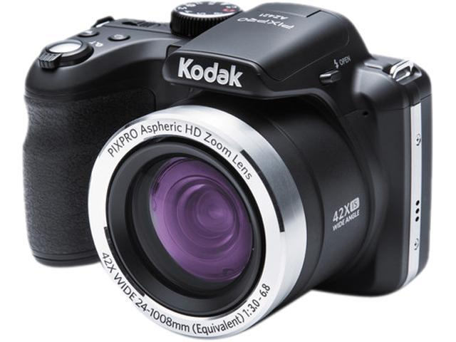 Kodak PIXPRO ASTRO ZOOM AZ421 Black 16.15MP 42X Optical Zoom 24mm Wide Angle Digital Camera HDTV Output