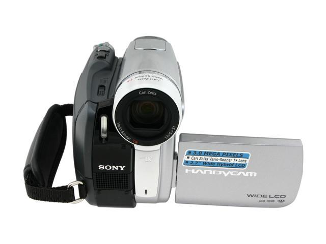 "SONY DCR-HC96 Black/Silver 2.7"" LCD 10X Optical Zoom Digital Camcorder"