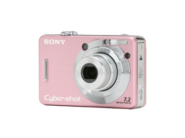 SONY Cyber-Shot DSC-W55 Pink 7.2 MP 3X Optical Zoom Digital Camera