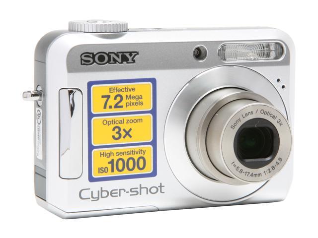 SONY Cyber-shot DSC-S650 Silver 7.2 MP 3X Optical Zoom Digital Camera