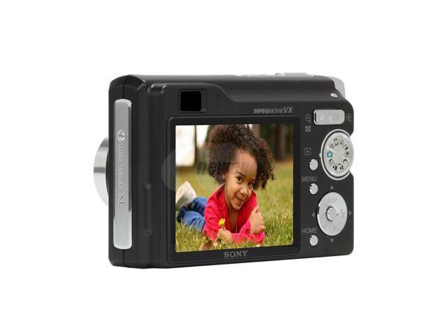 "SONY Cyber-Shot DSC-W90/B Black 8.1 MP 2.5"" 115K LCD 3X Optical Zoom Digital Camera HDTV Output"
