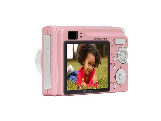 SONY DSC-W80/P Pink 7.2 MP 3X Optical Zoom Digital Camera HDTV Output