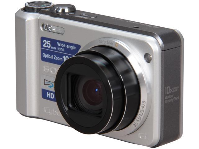 SONY DSCH70 Silver 16.1 MP 10X Optical Zoom 25mm Wide Angle Digital Camera