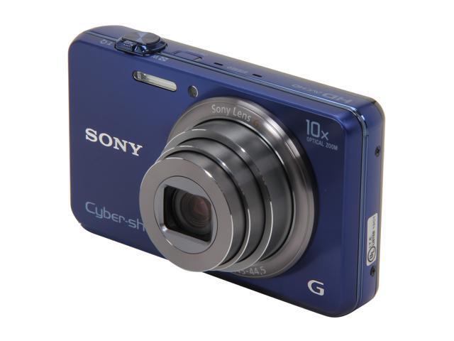 SONY DSCWX150/L Blue 18 MP 10X Optical Zoom Wide Angle Digital Camera