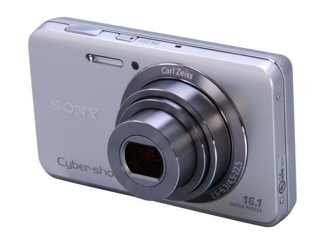 SONY DSC-W650 Silver 16.1 MP 5X Optical Zoom Digital Camera