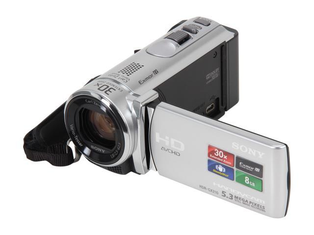 SONY HDR-CX210/S Silver Full HD Flash Memory Camcorder