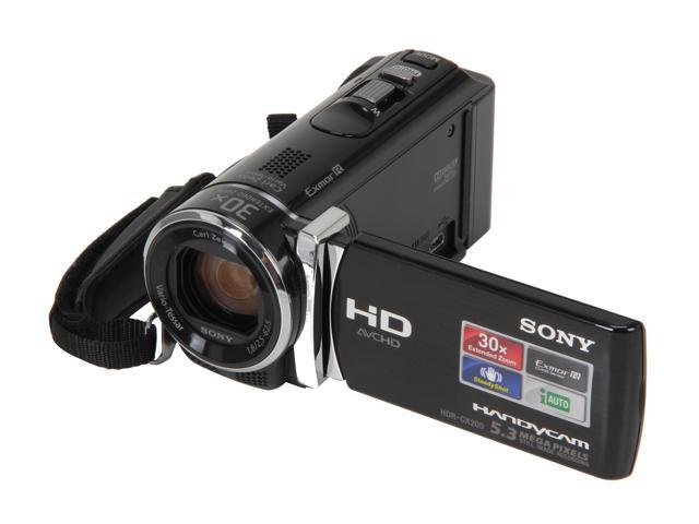 "SONY HDR-CX200/B Black 1/5.8"" CMOS 2.7"" (230K) LCD 25X Optical Zoom Full HD Camcorder"