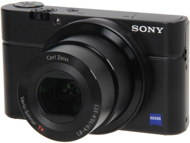 SONY DSC-RX100/B Black 20.2 MP 3.6X Optical Zoom Digital Camera HDTV Output