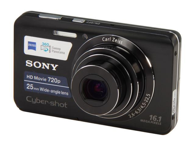 Sony Cyber-shot DSC-W650 16.1 MP Digital Camera with 5x Optical Zoom and 3.0-Inch LCD (Black)