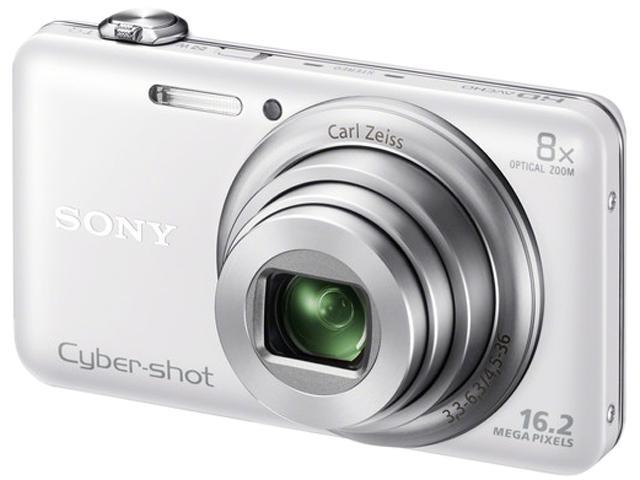 SONY Cyber-shot WX80 White 16.2 MP 8X Optical Zoom Digital Camera HDTV Output