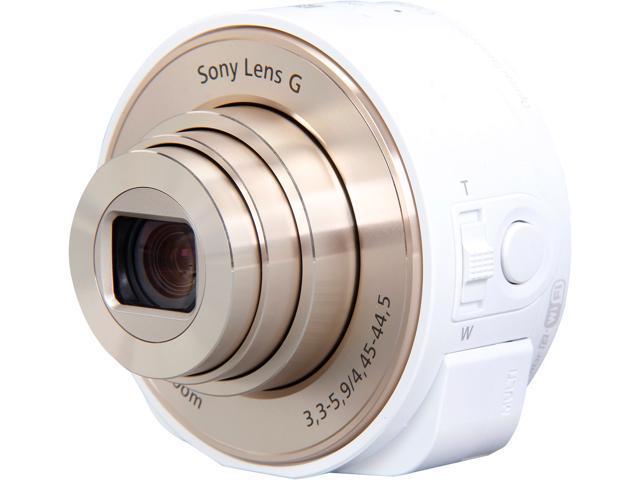 SONY DSCQX10/W White Smartphone Attachable Lens-style Camera