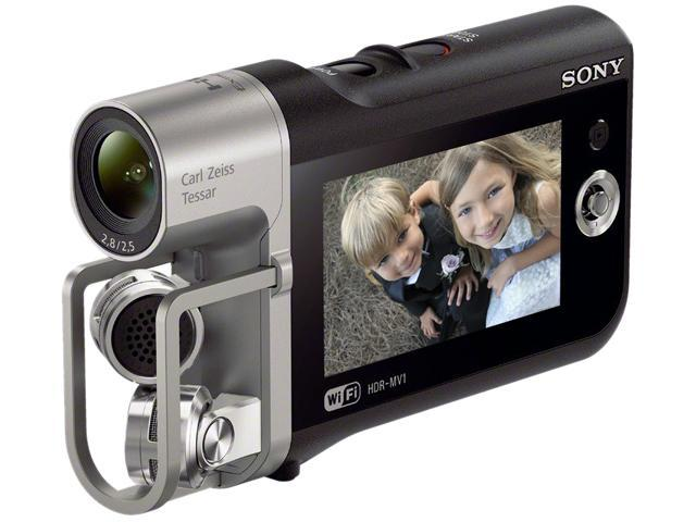 "SONY HDR-MV1 Black 1/2.3"" back-illuminated Exmor R CMOS 2.7"" 230K LCD Full HD HDD/Flash Memory Camcorder"