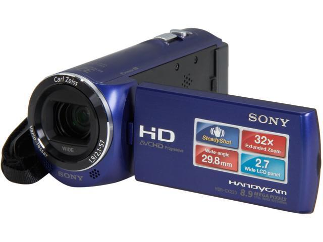 Sony 1080P Handycam Camcorder with 2.7-Inch LCD – HDRCX220/LM (Blue)