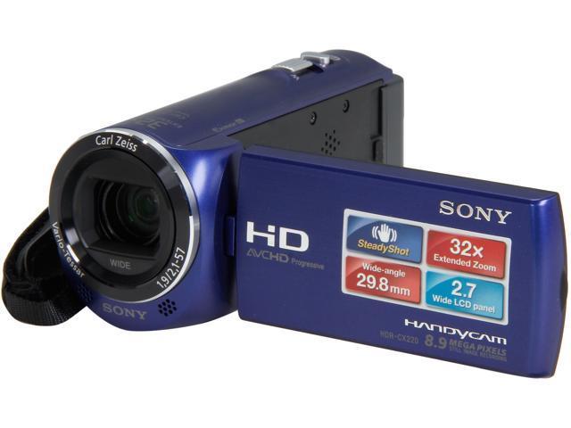 SONY HDR-CX220/L HDRCX220/LM Blue Full HD HDD/Flash Memory Camcorder