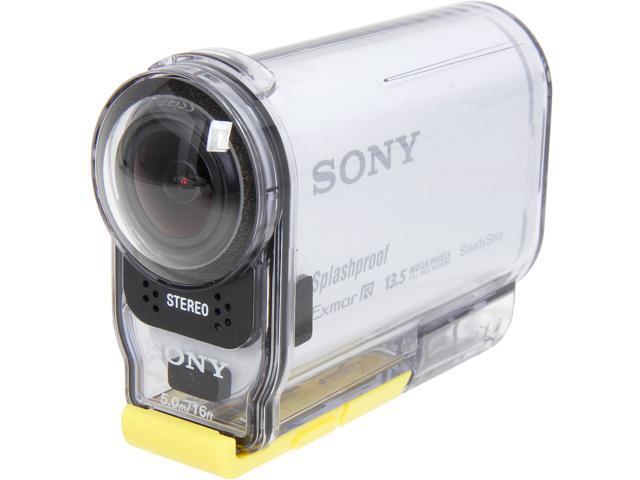 Sony HDR-AS100V/W White 13.5MP POV Action Cam - Newegg.com