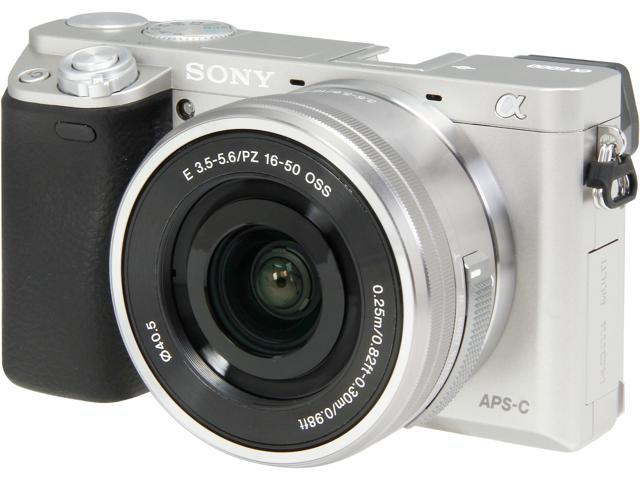 SONY Alpha a6000 ILCE-6000L/S Silver 24.3MP 3.0
