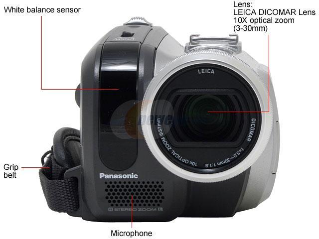 Panasonic PV-GS320 3CCD Silver 10X Variable Speed Digital Optical Zoom MiniDV Palmcorder Camcorder