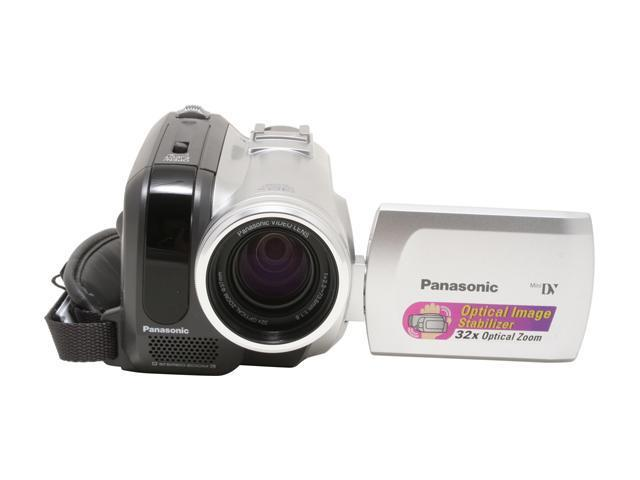 "Panasonic PV-GS80 1/6"" CCD 2.7"" 123K LCD 32X Optical Zoom MiniDV Camcorder"