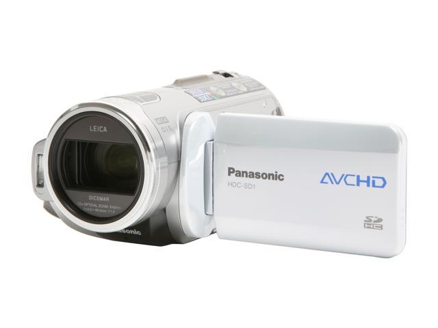 "Panasonic HDC-SD1 1/4"" 3CCD 3.0"" 250K LCD 12X Optical Zoom High Definition HDD/Flash Memory Camcorder"