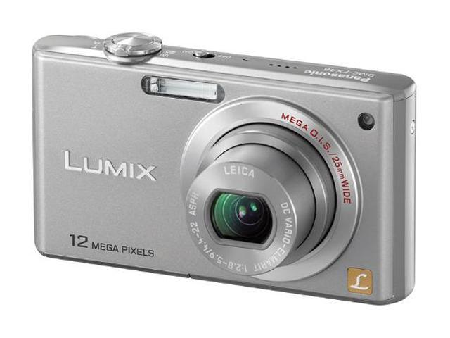 Panasonic Lumix DMC-FX48S Silver 12.1 MP 5X Optical Zoom 25mm Wide Angle Digital Camera
