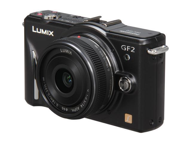 Panasonic Lumix DMC-GF2-ck 12 MP Micro Four-Thirds Interchangeable Lens Digital Camera with 3.0-Inch Touch-Screen LCD and 14mm f/2.5 G Aspherical Lens