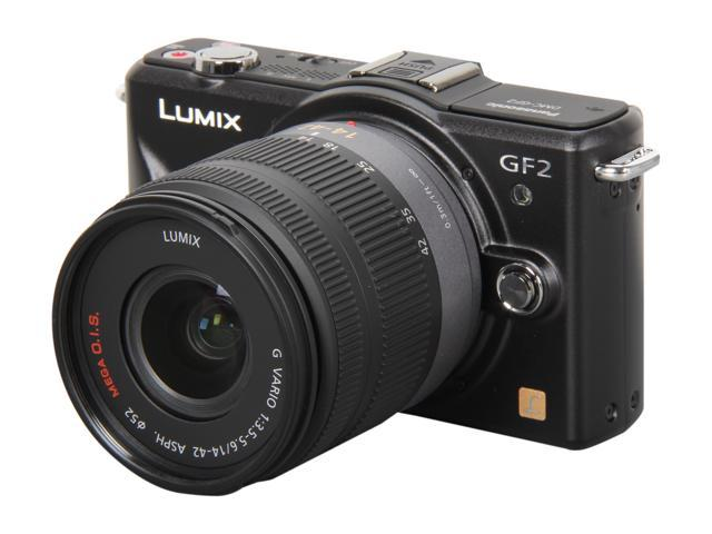 Panasonic LUMIX DMC-GF2KK Black Micro Four-Thirds Interchangeable Lens Digital Camera w/ 14-42 lens