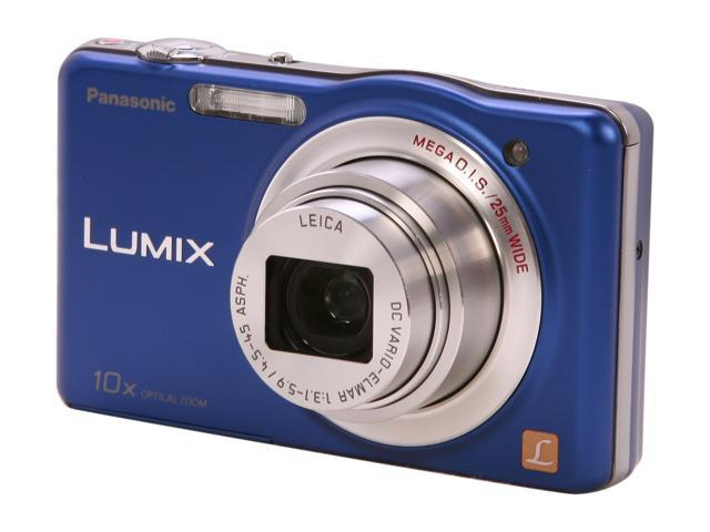 Panasonic DMC-SZ1 Blue 16.1 MP 10X Optical Zoom 25mm Wide Angle Digital Camera