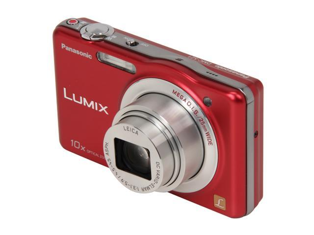 Panasonic DMC-SZ1 Red 16.1 MP 25mm Wide Angle Digital Camera