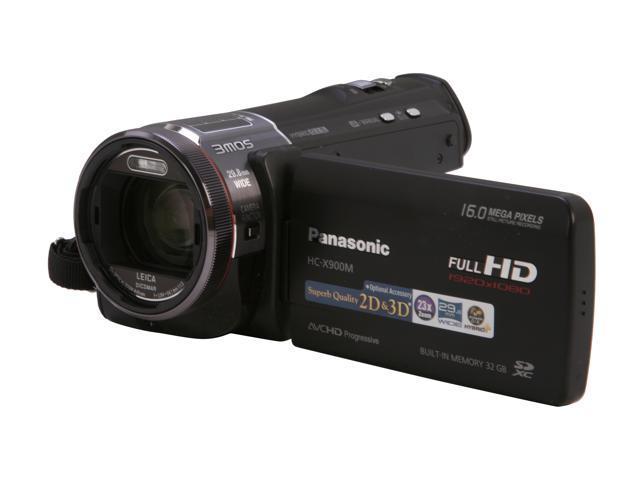Panasonic HC-X900MK Black Full HD Flash Memory Camcorder