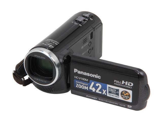 Panasonic HC-V100MK Black Full HD Flash Memory Camcorder