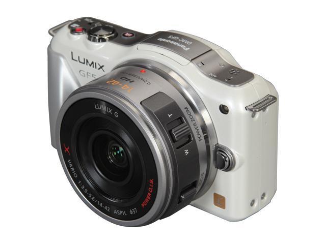 Panasonic LUMIX GF5X White Digital Interchangeable Lens System Camera w/ 14-42mm Lens