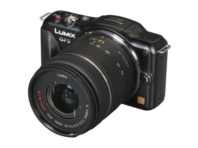 Panasonic LUMIX DMC-GF5K Black Digital Interchangeable Lens System Camera w/ 14-42mm Lens