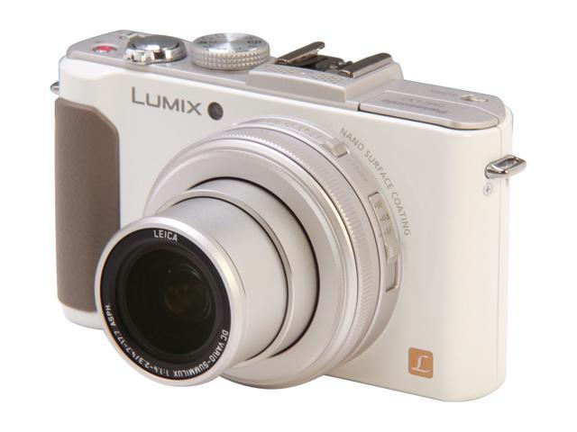 Panasonic LUMIX LX7 White 10.1 MP 3.8X Optical Zoom 24mm Wide Angle Digital Camera HDTV Output