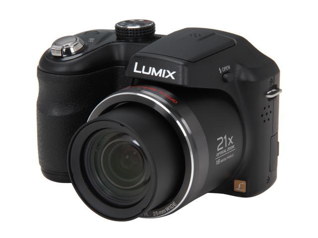 Panasonic LUMIX LZ20 Black 16.1 MP 21X Optical Zoom 25mm Wide Angle Digital Camera