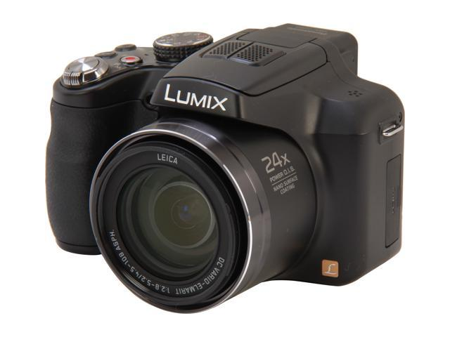 Panasonic LUMIX FZ60 Black 16.1 MP 24X Optical Zoom 25mm Wide Angle Digital Camera HDTV Output