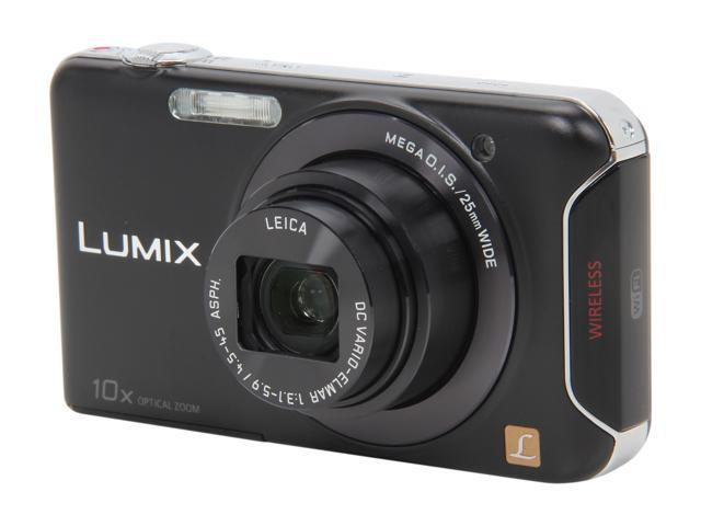 Panasonic LUMIX SZ5 Black 14.1 MP 10X Optical Zoom 25mm Wide Angle Digital Camera