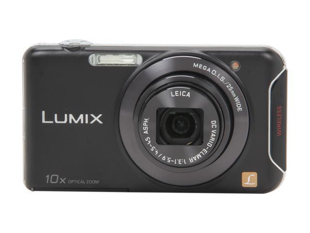 Panasonic LUMIX SZ5 Black 14.1 MP 10X Optical Zoom 25mm Wide Angle Digital Camera