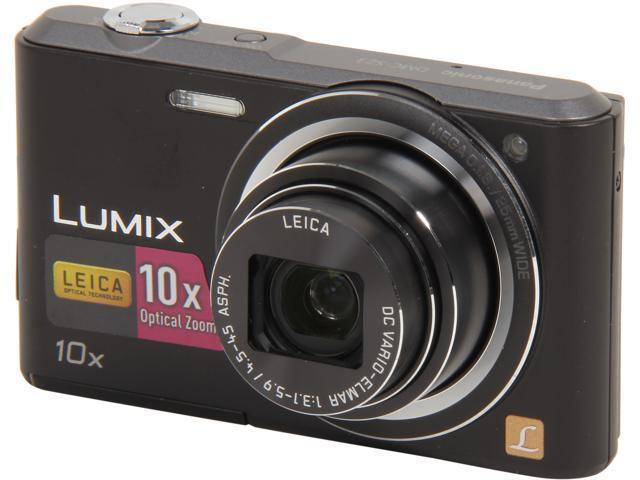 Panasonic LUMIX DMC-SZ3K Black 16.1 MP 10X Optical Zoom Digital Camera