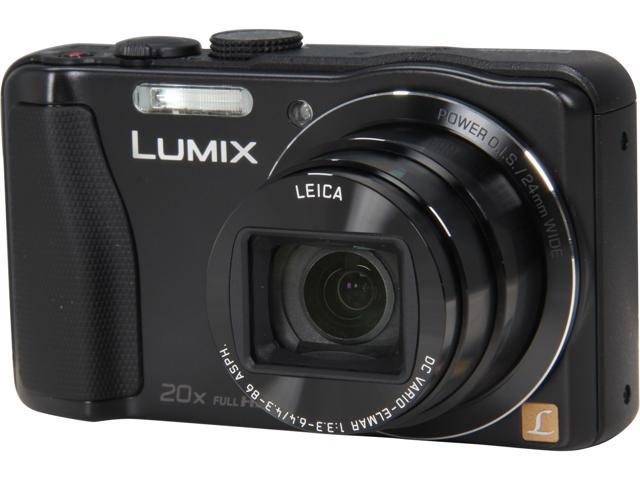 Panasonic LUMIX DMC-ZS25K Black 16.1 MP 20X Optical Zoom Wide Angle Digital Camera HDTV Output