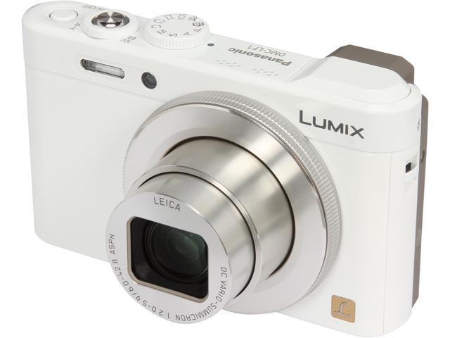 Panasonic LUMIX DMC-LF1W White 12.1 MP 7.1X Optical Zoom 28mm Wide Angle Digital Camera
