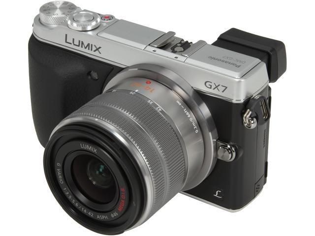 Panasonic DMC-GX7KS Silver 16 MP 3.0 inch (7.5 cm) / 3:2 Aspect / Wide-viewing angle LCD Digital Single Lens Mirrorless Camera with 14-42 II Kit Lens