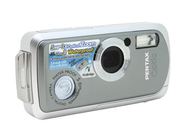 PENTAX WP Gray 5.0 MP 3X Optical Zoom Digital Camera