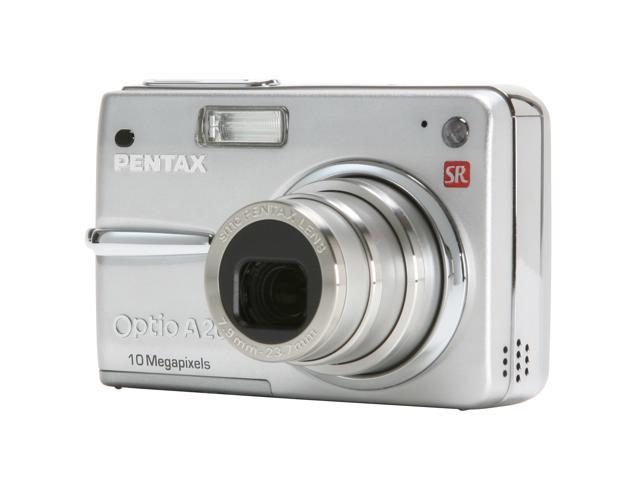 PENTAX Optio A20 Silver 10.0 MP 3X Optical Zoom Digital Camera
